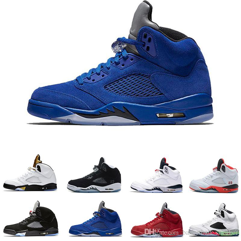 cheap sale for nice outlet lowest price 2018 cheap 5 Blue Red Suede Men Basketball Shoes products 5s Men Sneakers sale lowest price VtQiZ