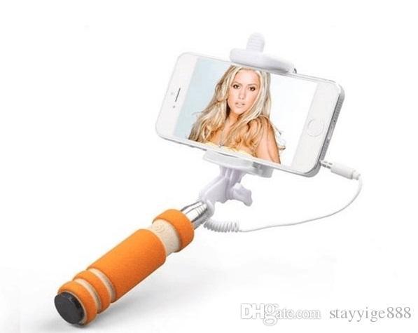 Fisch auge mini selfie stick handy mini tragbare fernbedienung