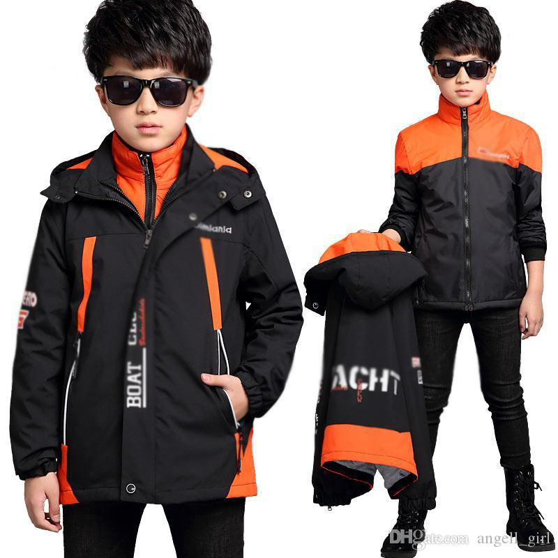 dd1ca66e2d00 Boys Jackets Children Clothing Children Coat New 2018 Sport Clothes  Waterproof Windproof warm Boys Outerwear Winter spring