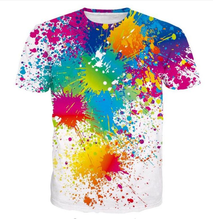 6e7df78d9 Summer Style Newest Fashion Mens/Womens Creative Watercolor Funny 3D Print  Casual T Shirt ABCQ00101 Mens Shirts Shirts For Men From Happy668899store,  ...