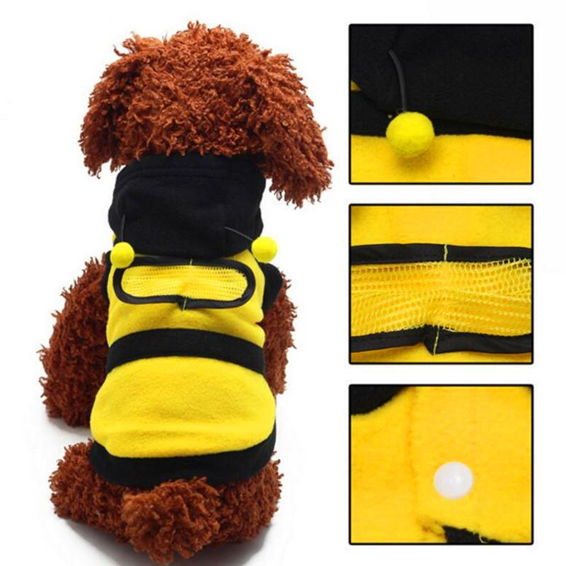 f07b36606b19 2019 Dogs Clothes Cute Fleece Bumble Bee Lovely Wings Dog Cat Pet ...