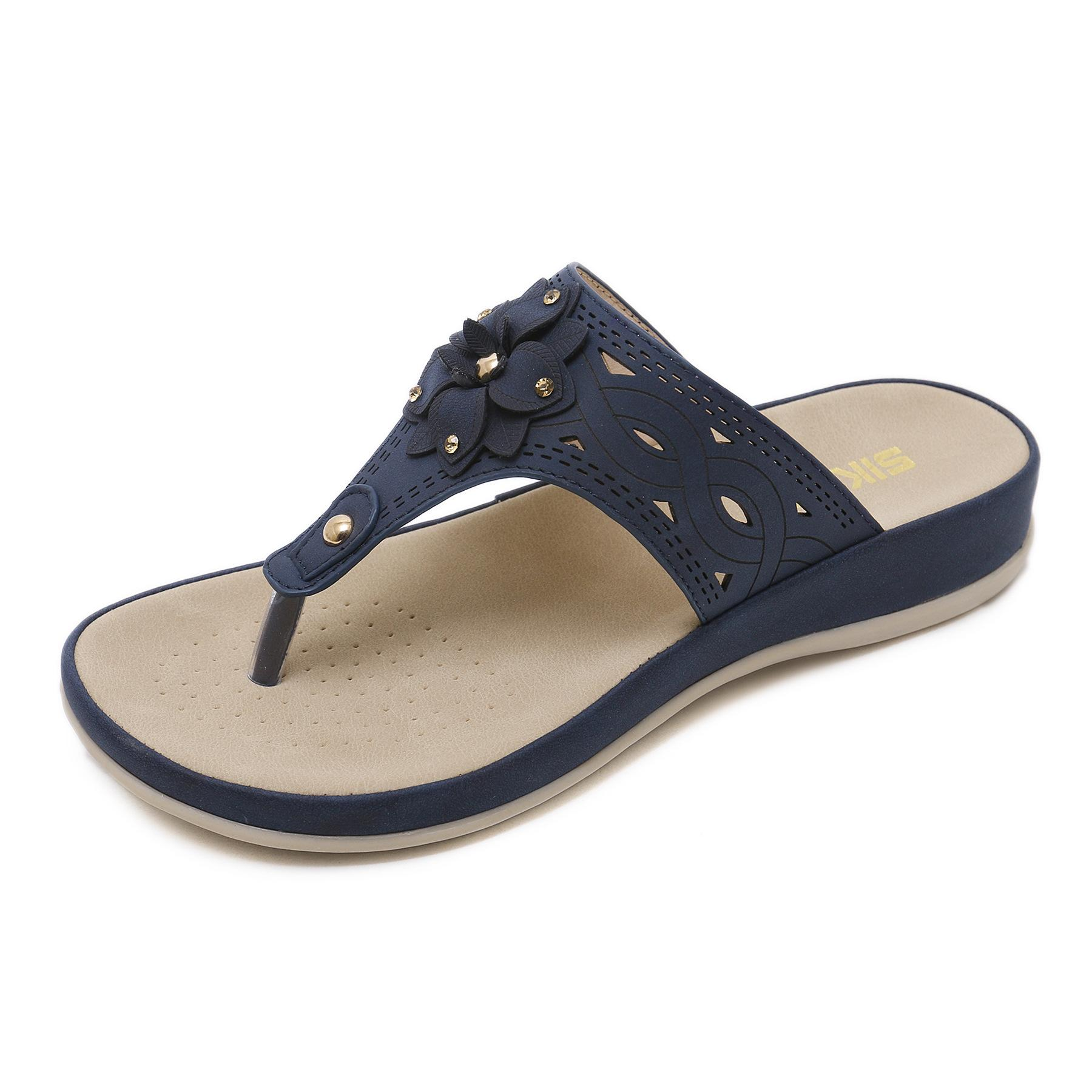 New Summer Wedges Heels Slippers Women Quality Flip Flops Fashion Beach  Shoes Sandals Sexy Woman Slides Plus Size 42 2019 Fur Boots Glass Slipper  From ... 7330b13ce528