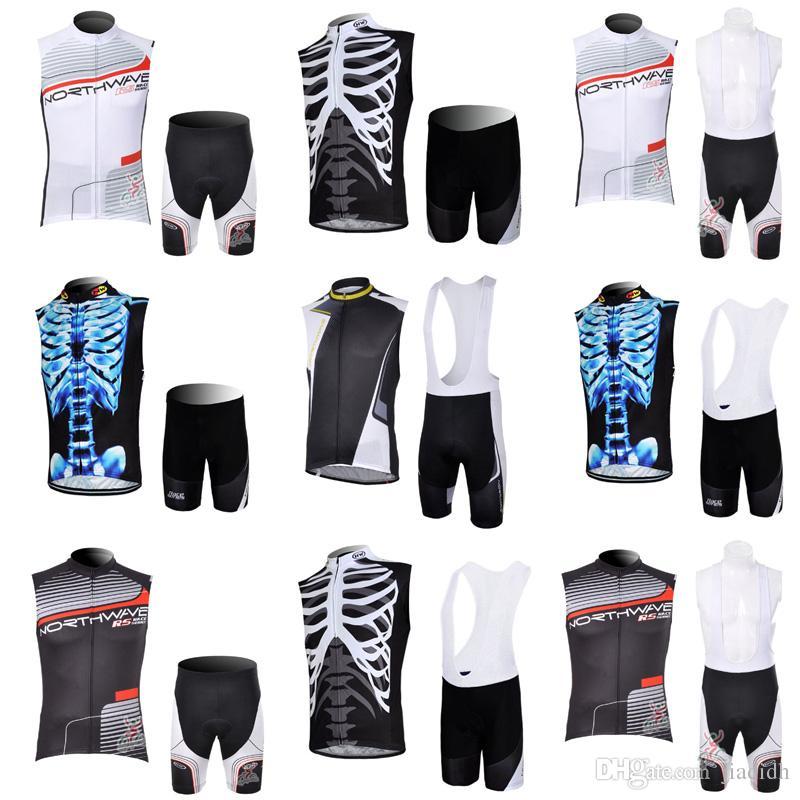 NW Team Cycling Sleeveless Jersey Vest Bibshorts Sets Men s Summer ... d0c0a5d0b