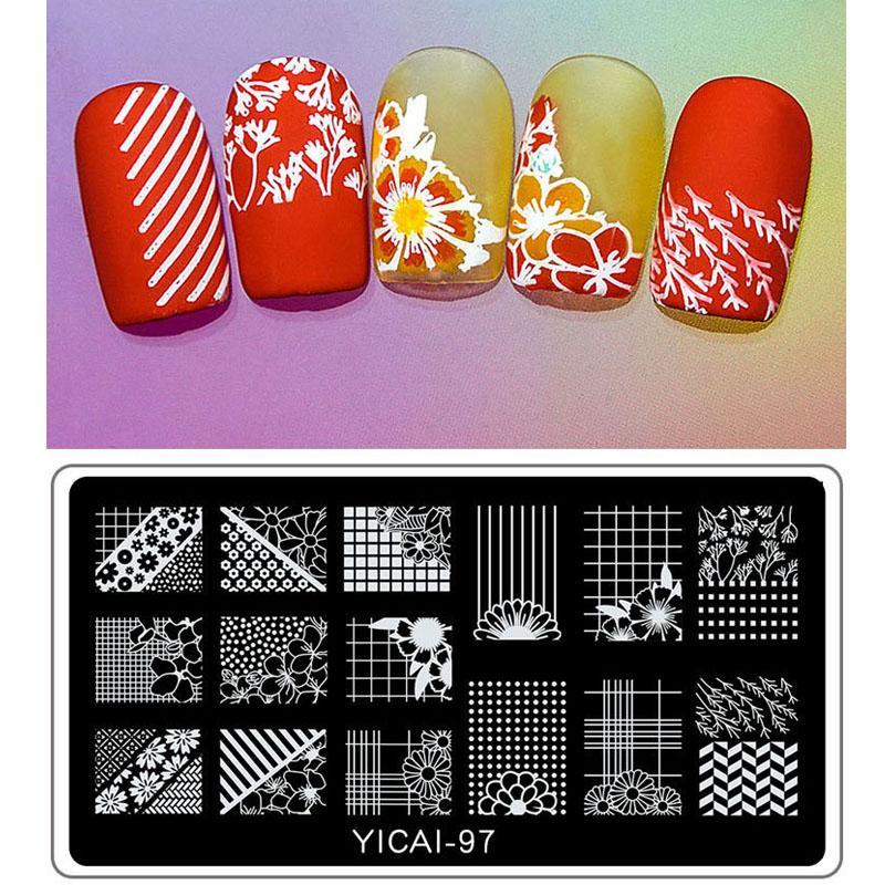 Nail Stamping Plates Nail Art Stamper Diy Pattern Plate Diy Stamping