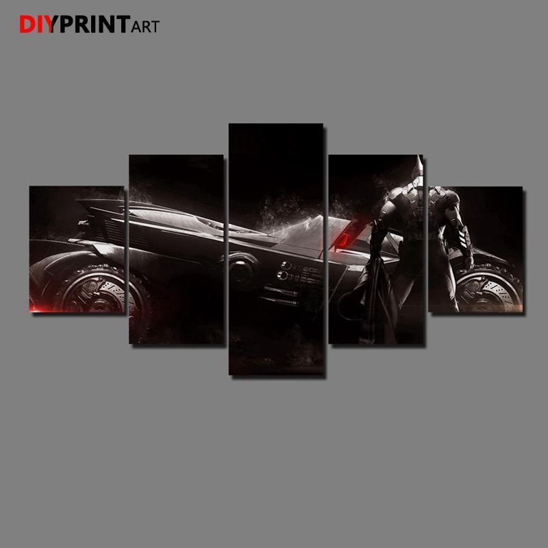 Satın Al Batman Arkham şövalye Oyunu 5 Parça Modern Sanat Boyama
