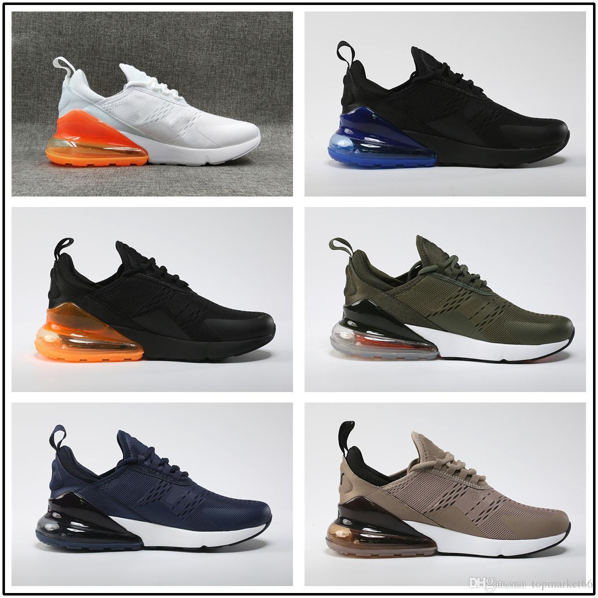 f7add0f034bc 2018 High Quality 27C Sneakers Mens Casual Shoes Men 270 Triple Black Sport  Boots Women Sport Shoes Sneakers Size 36-45 270 Shoes White Yellow Online  with ...