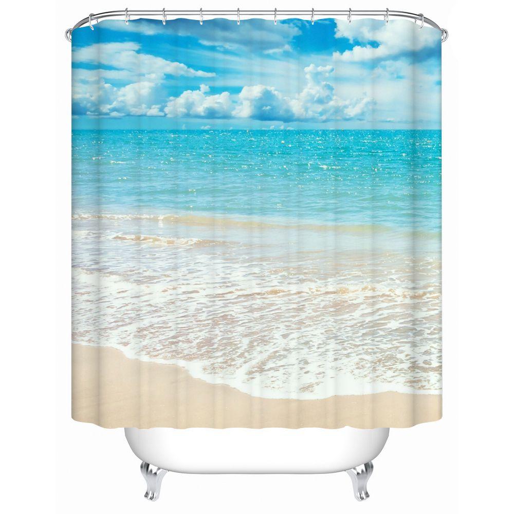 2018 Bathroom Products Shower Curtains Bathroom Curtain Waterproof ...
