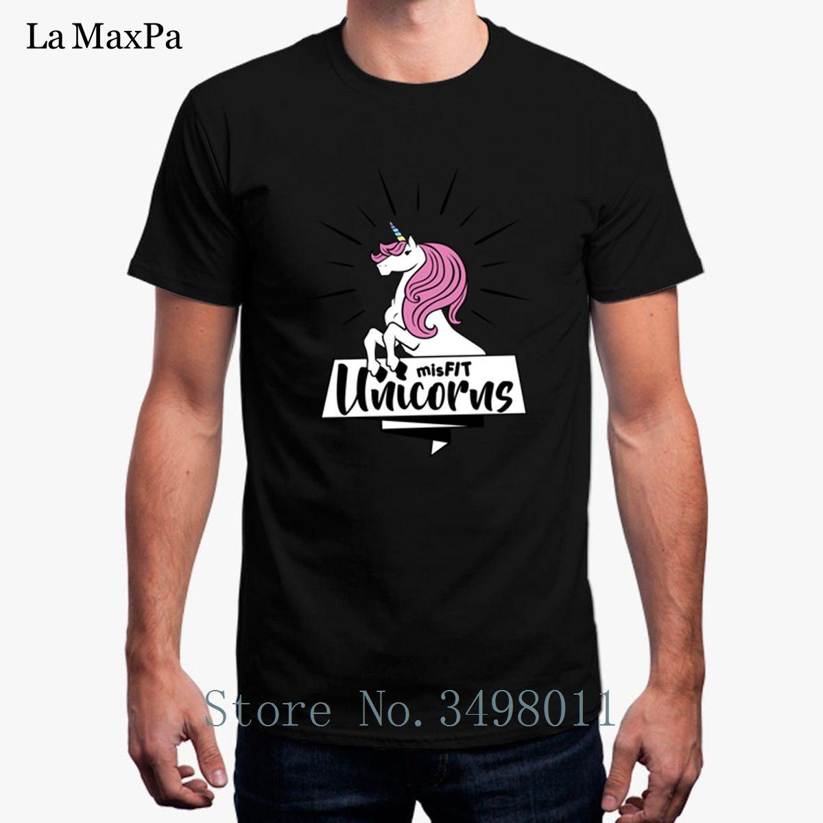 New Misfit Unicorns Full Color T Shirt For Men Solid Color T Shirt