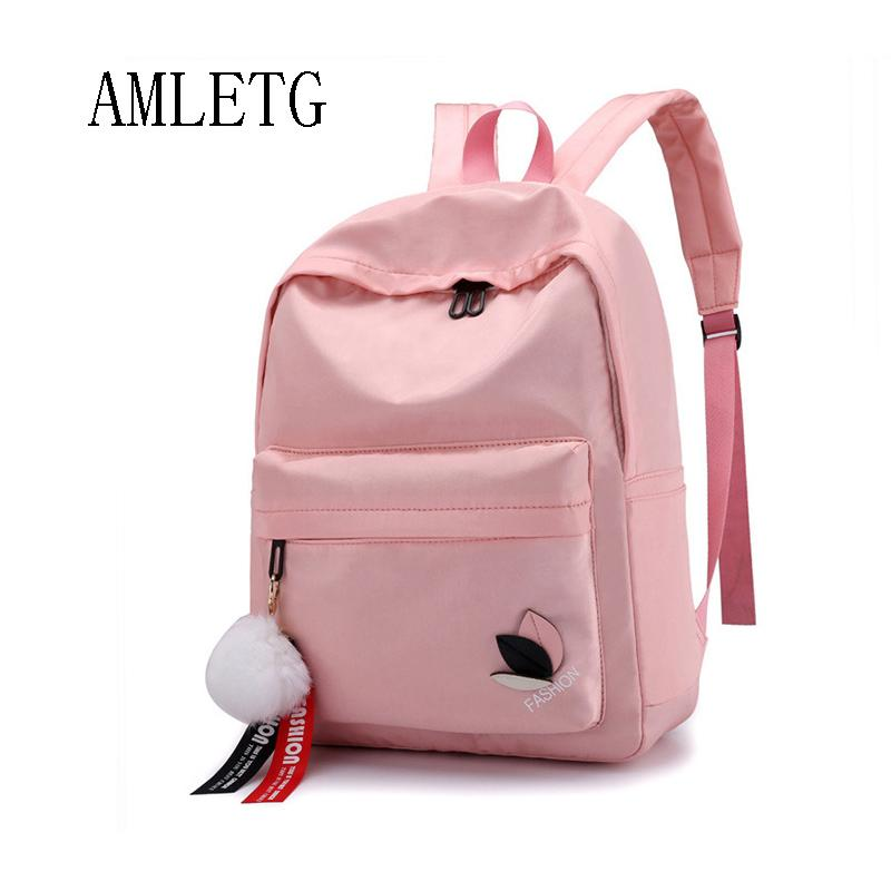 AMLETG For Women Waterproof Nylon Backpacks Female Backpack School Backpack  For Fashion Clothing For Girls Travel Bag Mochila Laptop Rucksack Backpacks  For ... 7d1eb2b37a36f