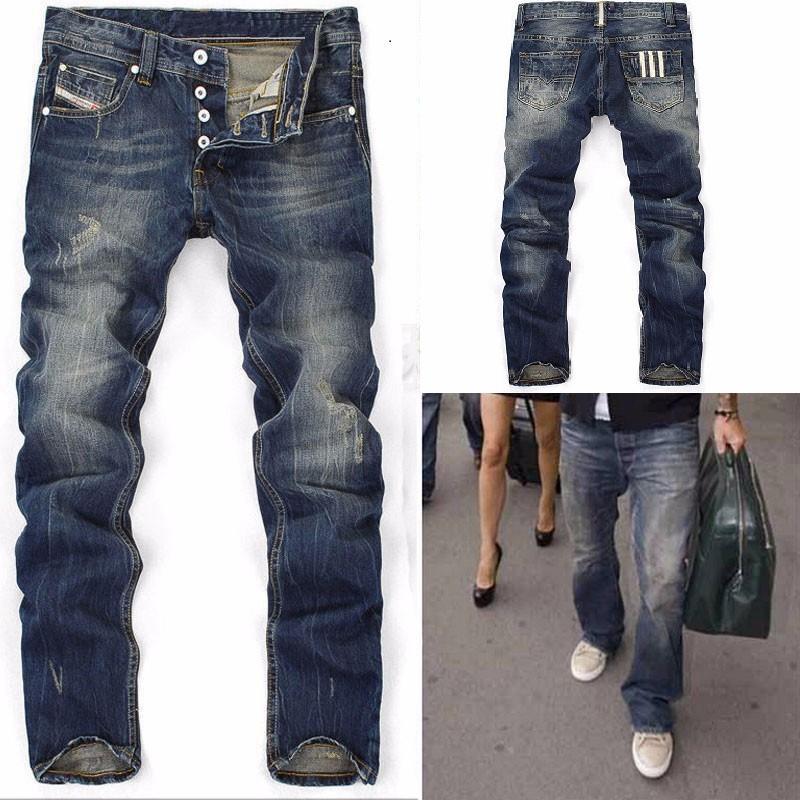 Acheter 2017 New Hi Q Hommes Jeans Droite Nouvelle Marque Jeans Bleu Denim  Avec Trou Pantalon Homme Bouton Fly Slim Hommes Rayé Pantalon De  36.16 Du  ... 460f201c8563