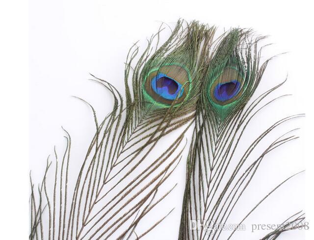 Элегантные декоративные материалы реальных природных Перо павлина красивые перья 25 до 30 cm бесплатная доставка