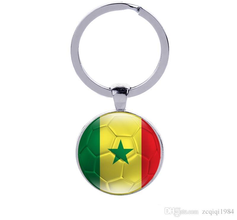 كأس العالم لكرة القدم بلد العلم مشجعي كرة القدم سلاسل المفاتيح الرجال مشبك تذكارية هدية مفتاح سلسلة