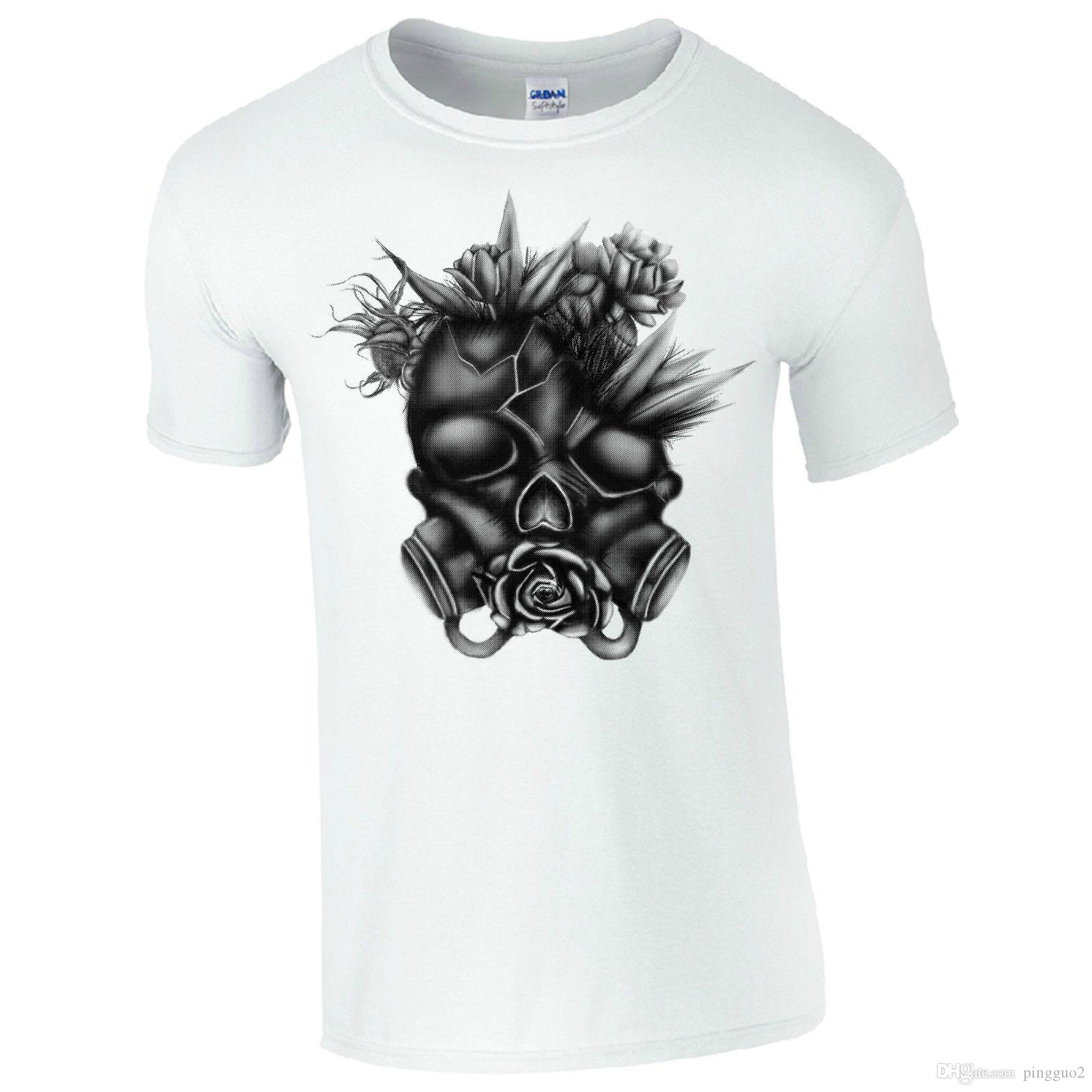 Back To Search Resultsmen's Clothing Tops & Tees Summer Fashion Men Cotton T Shirts Gas Mask Skull Man Round Neck Tops Black Size S-3xl Women Tshirt