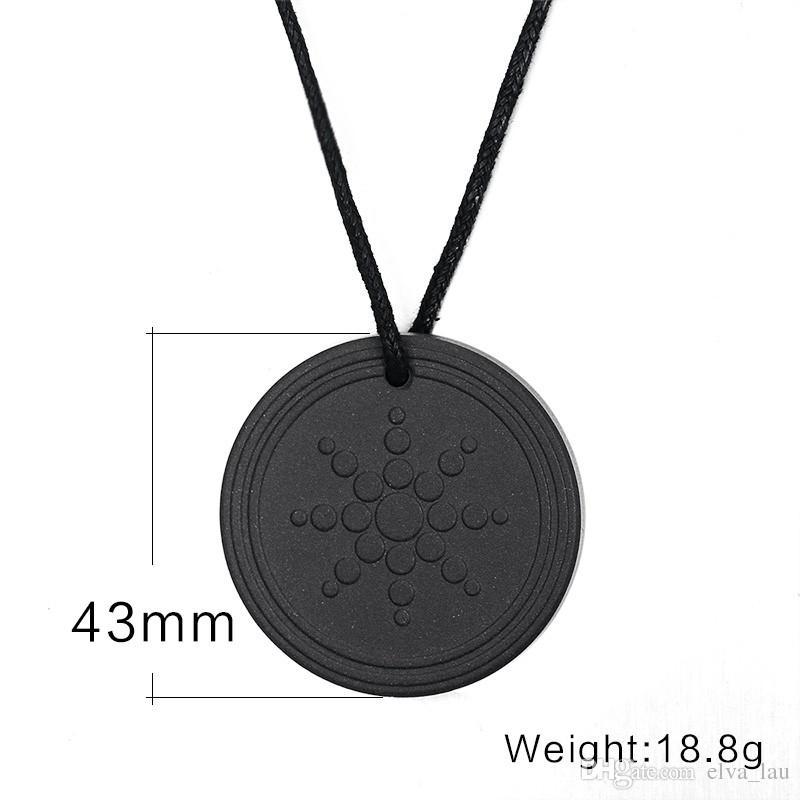 Sun Flower Vesuvianite Choker Necklaces Quantum Scalar Energy Pendant Necklace 2000 ~ 3000 ions Energy Power Health Care Men Jewelry