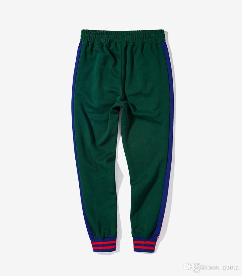 Yeni Tiki Aşk Legging Pantolon Mektup Baskı Yan Çizgili Jogger ile Parça Pantolon Legging Pantolon Elastik Bel Rahat Jogger Giyim