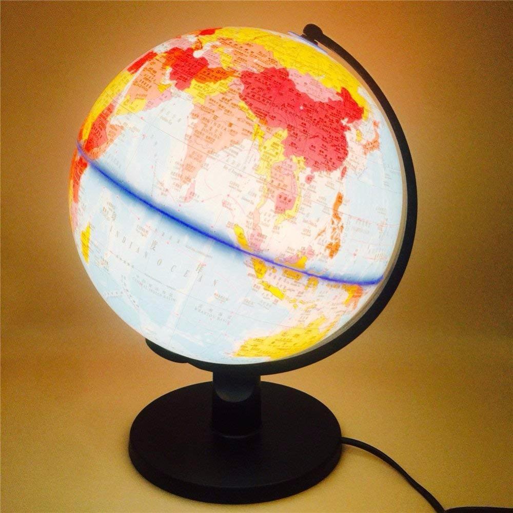 2019 Led Table Desk Lamp World Globe Map Book Night Light Earth Ball