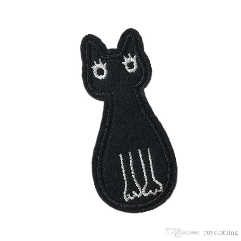 Diy кошки патчи для одежды железо вышитые патч аппликация утюг на патчи швейные аксессуары значок наклейки на сумки для одежды