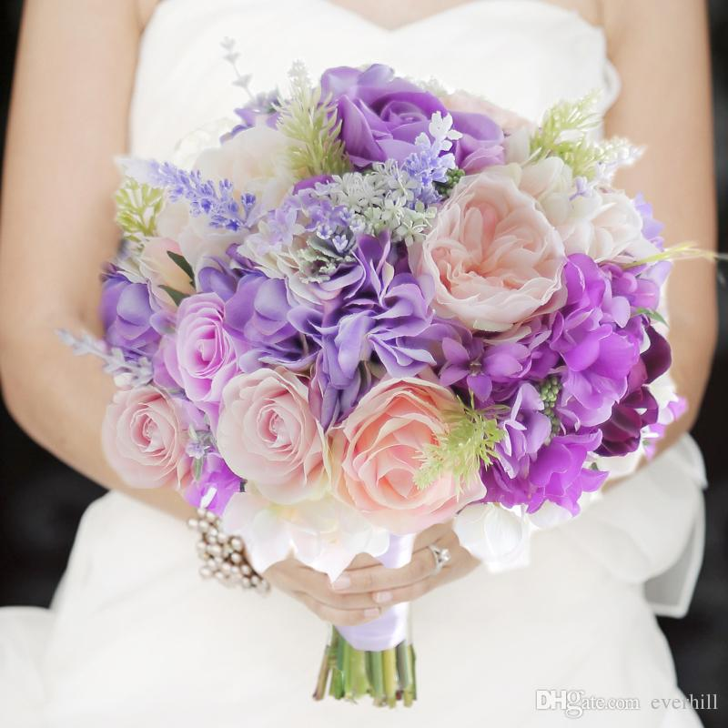 Wedding Flowers In May: 2018 Artificial Roses Wedding Flowers Bridal Bouquets