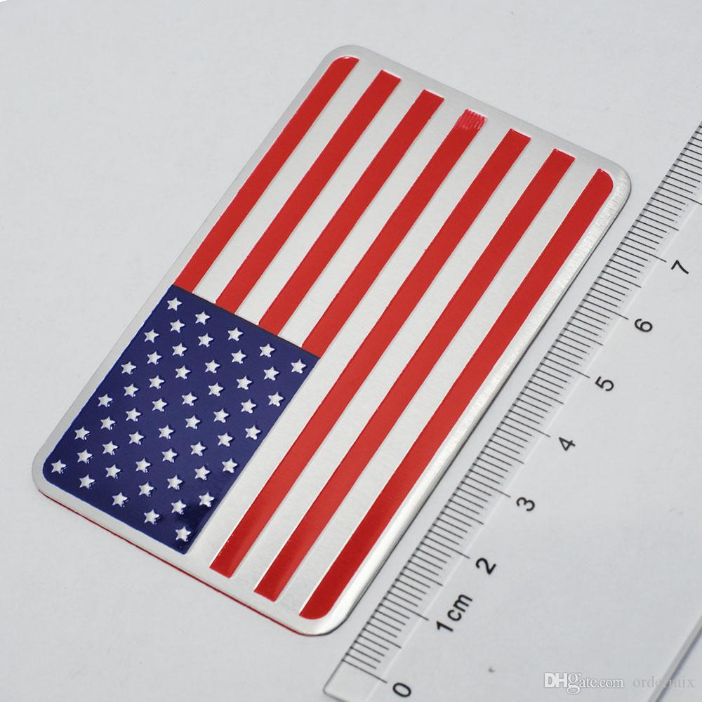 Metal Car Sticker American Flag Car Sticker Pack JDM Auto Stickers and Decals Car Styling Accessories Emblem Adhesive