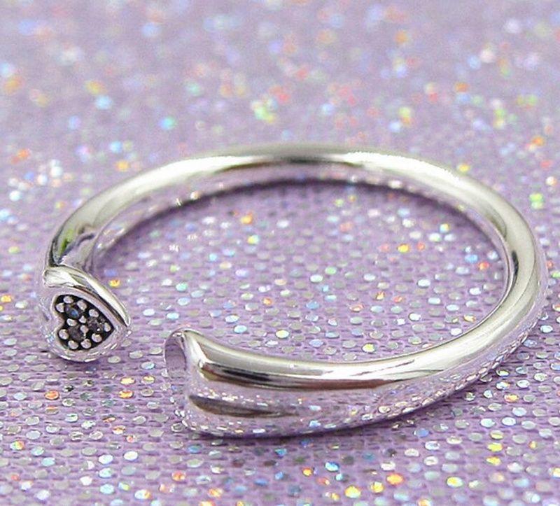 34ffad7b7 ... 50% off 2018 new 100 925 sterling silver european pandora jewelry two  hearts ring fashion