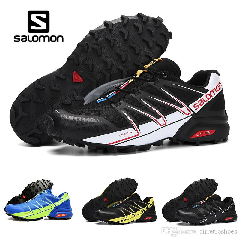 4dfd1958eec1 2018 Summer Salomon Speed Cross 3 Speedcross Black White Pro Outdoor Mens Running  Shoes Light Sneaker For Outdoor Walking Jogging Men Shoes Hoka Running ...