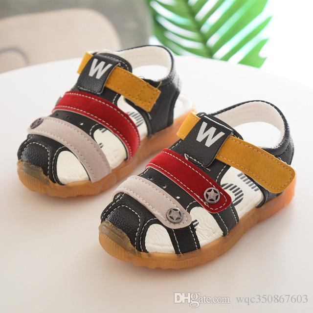 01bb1c8a6 Leather Fashion Soft Leather Baby Sandals First Walkers European Hook Loop  Girls Boys Shoes High Quality Classic Baby Toddlers Toddler Boy Shoes Size  7 ...