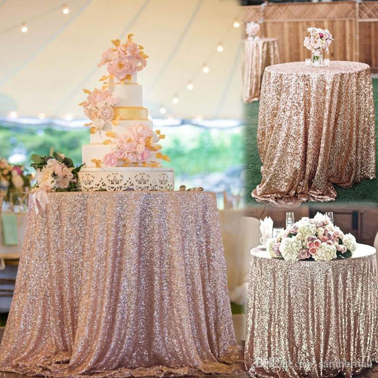 Hot Cheap Rose Gold Bling Bling Sequins Wedding Decorations Table