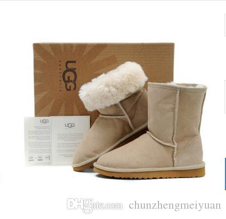 83416067d45c Winter Women UGG5825 Snow Boots Fashion High Quality Genuine Suede ...