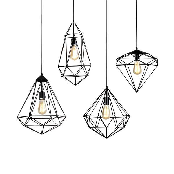 2018 New Retro Pendant Lamp Industrial Style Diamond Shape