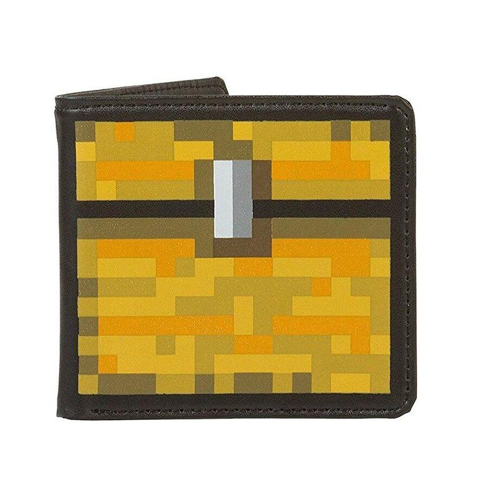 Men's Wallets purse For Men PU Cartoon Design Mosaic Coin Bags Money Clip For Kids Boys Christmas Birthday Gift Wallet