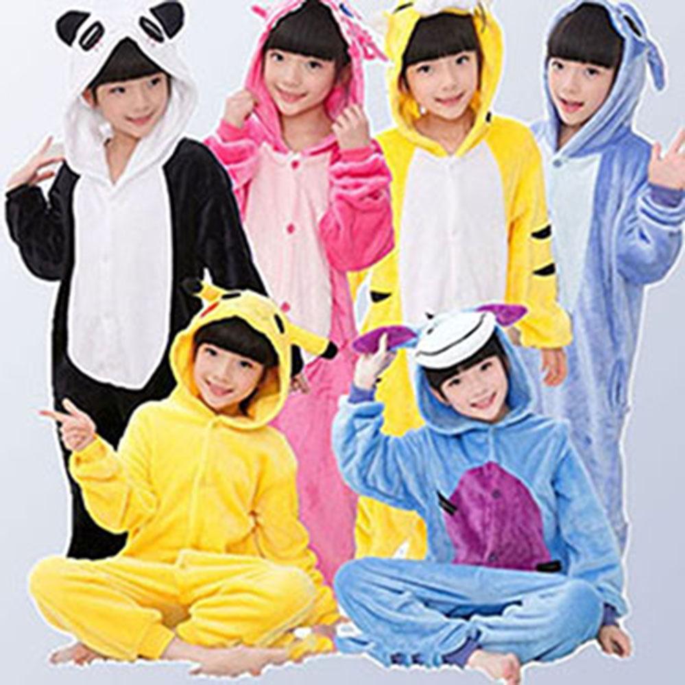 0091c5ce9 2018 New Flannel Baby Boys Girls Pajamas Animal Unicornio Stitch ...