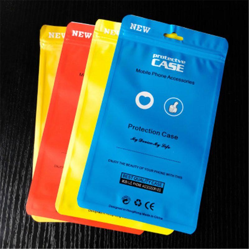 Pacotes de telefone celular caixas de plástico Zipper móvel OPP Bolsas Celular Caixa de presente de PVC Sacos Retail Saco