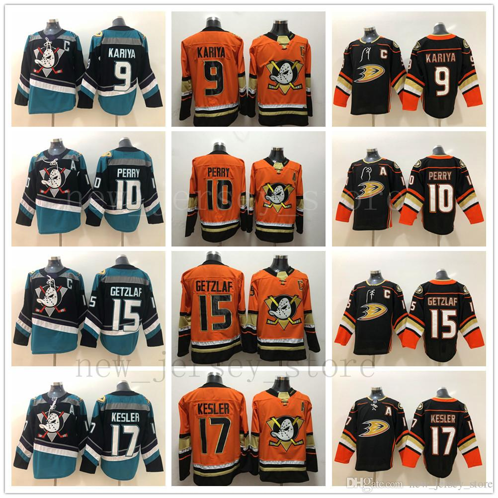 5e8a958b41b 2018 Anaheim Ducks #10 Corey Perry Hockey Jerseys Orange #9 Paul ...