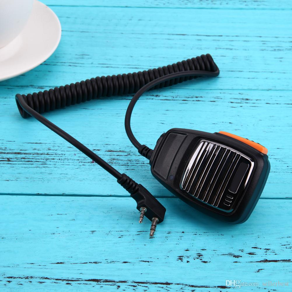 2 Pin Handheld Speaker Microphone Mic for Baofeng Kenwood TYT Radios for Walkie Talkie UV-5R UV-5RE BF-UVB2 Plus BF-888S GT-UV2
