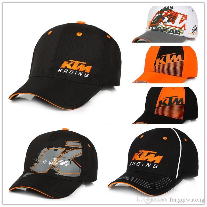 b9a7ae68ce9d0 Homens Mulheres Snapback Da Motocicleta de Alta Qualidade Chapéus Bonés de  Corrida Do Motor Cap F1 Moto GP Logotipo Para KTM Boné de Beisebol Bordado  chapéu