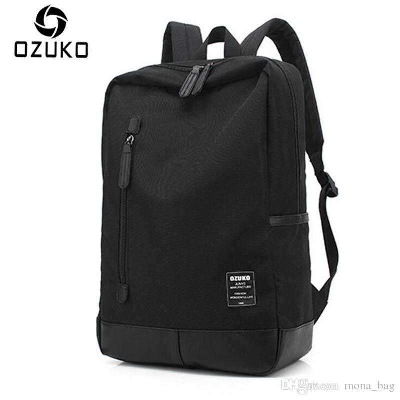 c11679dcb90e OZUKO 2018 New Style Men S Canvas Backpack Fashion College Student Bag For  Teenagers Male Laptop Mochila Casual Travel Rucksacks Pink Backpacks  Daypack From ...