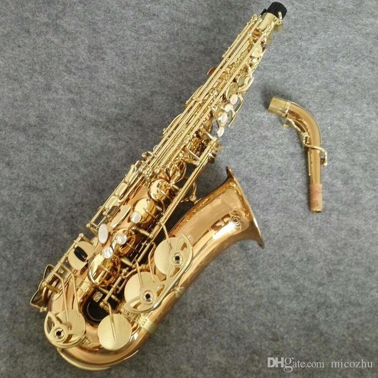 Brand New YANAGISAWA Saxophone Alto WO20 Laque de l'Or Sax Embouchure professionnels Patches Tapis Roseaux Bend Neck