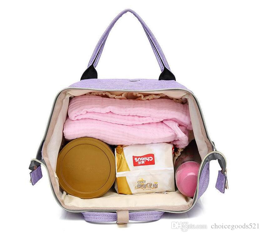 Diaper Bags Mommy Backpack Fashion Mother Maternity Nappies Bags Nursing Travel Large Oxford Fabric Waterproof Bags
