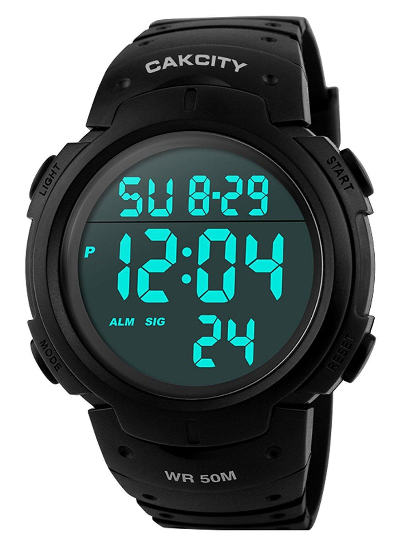 e980639e8aa8 Compre Reloj Deportivo Digital Para Hombre Con Pantalla LED Reloj Militar De  Cara Grande Y Reloj Cronómetro Impermeable Luminoso A Prueba De Agua Reloj  ...