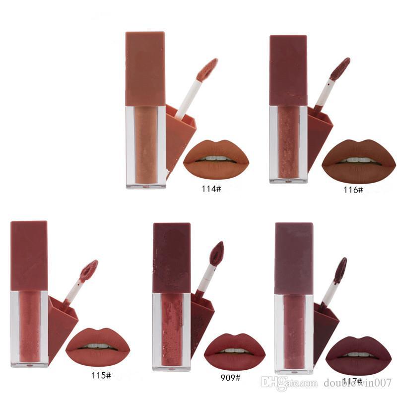 5 color Sexy Lipgloss Pumpkin Color Series Liquid matte liquid lipstick set nude brown chocolate rose ki Waterproof Long-lasting