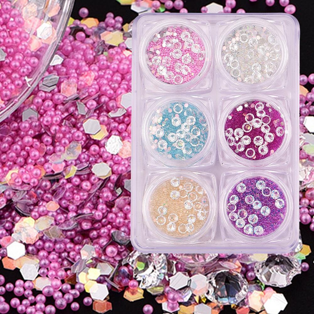 Japanese Nail Art Decoration Mixed Size Pearls Crystal Drill Nail
