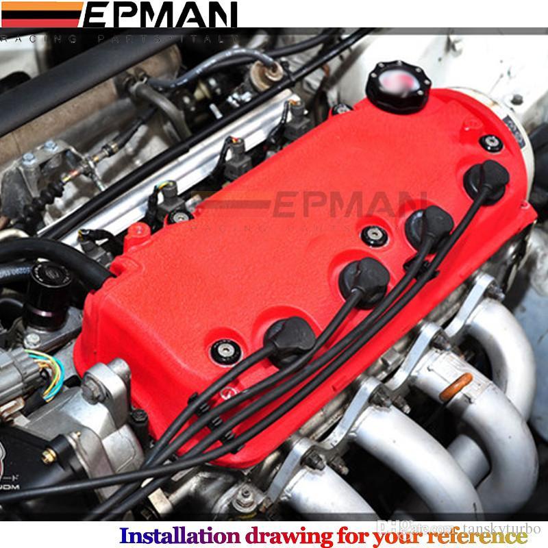 EPMAN Válvula Cubierta Lavadora Kit para Honda D-Series Rojo, Negro, Plata, Azul, Púrpura, Verde, Gris EP-DP008