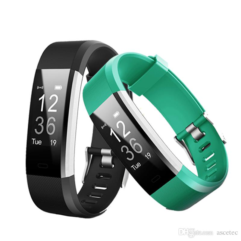 ID115HR Plus Smart band Bracelet Heart Rate Monitor Pedometer Fitness  tracker Smart Wristband For iPhone X Samsung Galaxy Note 9 8 S9