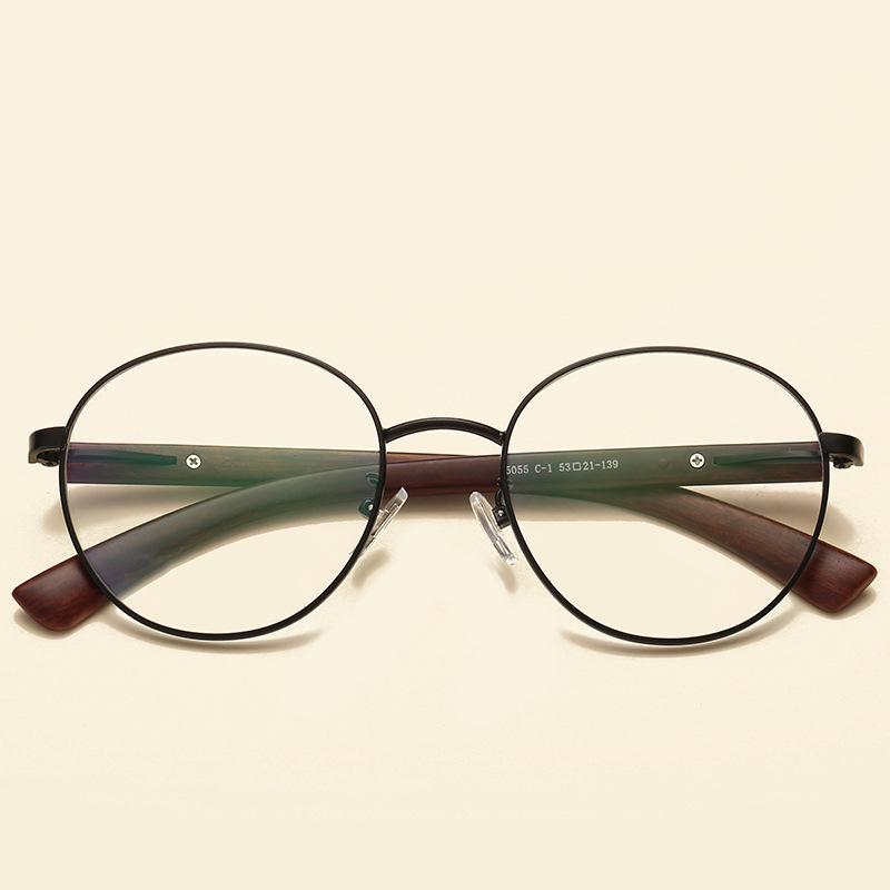b91d01b9ad3 2018 Vintage Round Handmade Eye Glasses Frame Wooden Glasses for Men ...