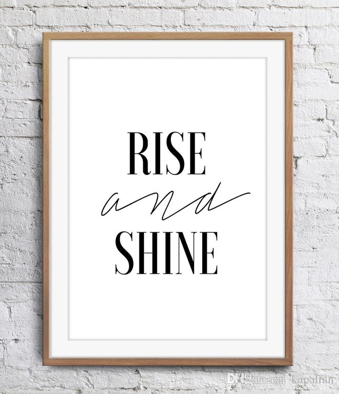 2019 Motivational Inspirational Quotes Rise And Shine Art Poster