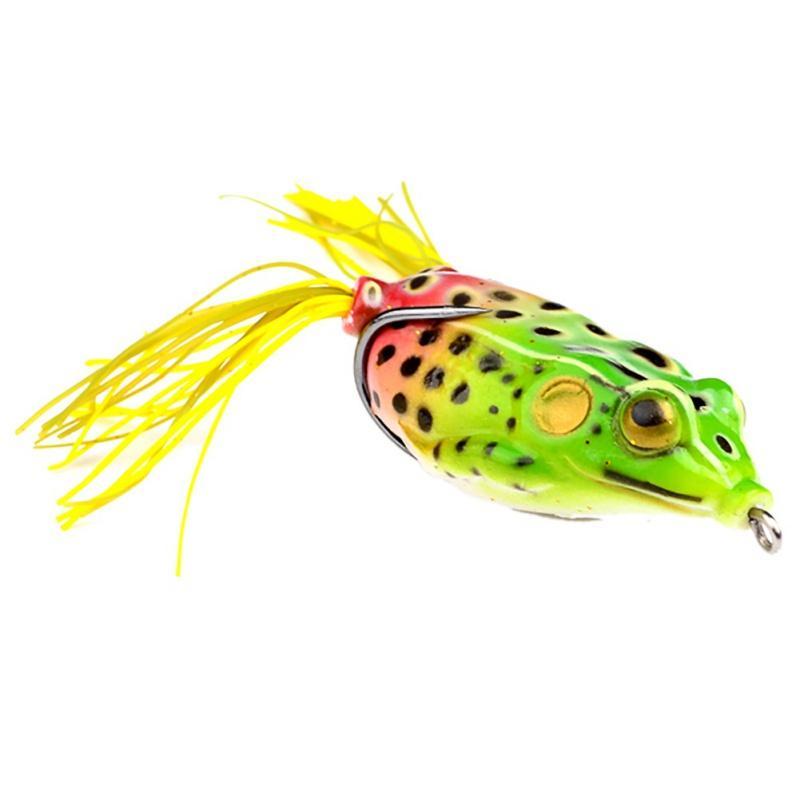 Hot Soft Rubber Lifelike Ray frog Snakehead bait 13.5g 5.5cm 3D Eyes popper Blackfish Crankbait Hooks
