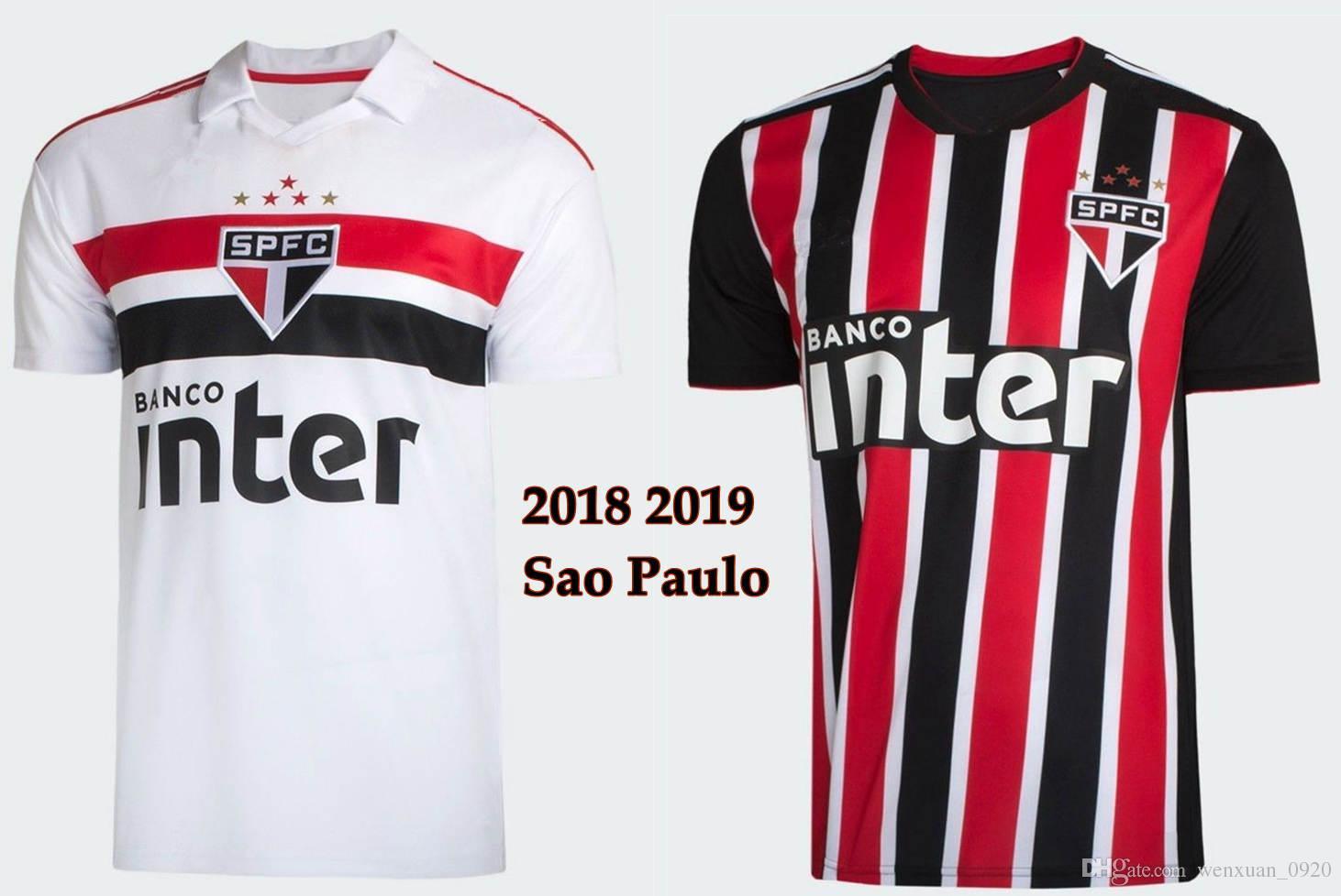 Compre 2018 2019 São Paulo Camisas De Futebol Thai Quality Home Away Camisas  18 19 São Paulo Camisetas Camisas De Futebol De Wenxuan 0920 6085cce888a80