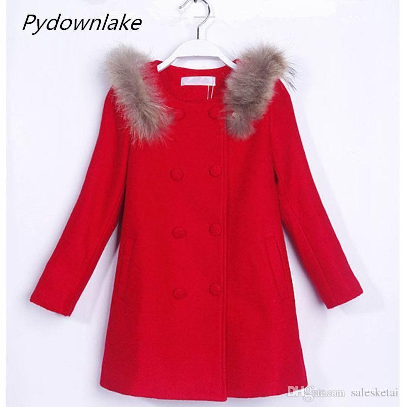 Acheter 2018 Vêtements Pour Enfants En Gros Fille Automne Printemps Nouveau  Style Enfants Coréens Manteau Filles Manteau Rouge En Laine De  17.55 Du ... 48e16678936