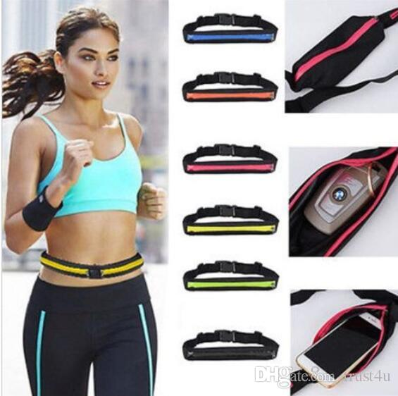 Mobile Phone Outdoor Bag Sport Runner Zipper Fanny Pack Belly Waist Bag Fitness Running Belt Pouch Waist Belts