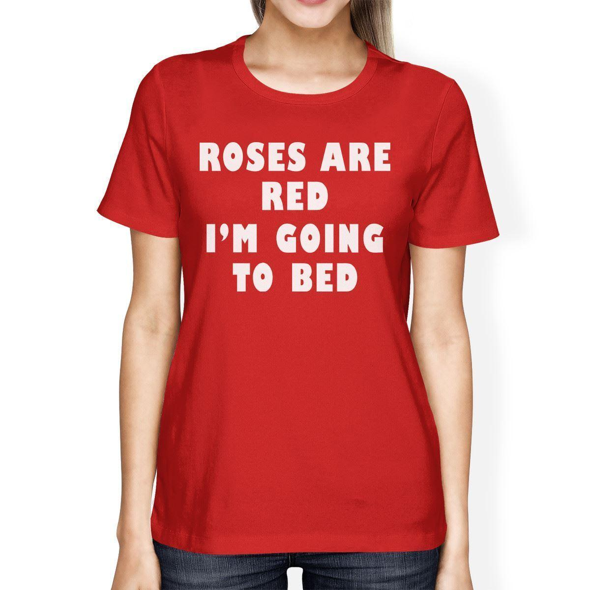 44470f30f95e Women's Tee Roses Are Red Women's Red T-shirt Short Sleeve Funny Graphic Tee  Printed Funny T Shirt Hip Hop Cotton Plus Size Top Tee